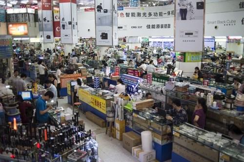 Khu chợ điện tử Huaqiangbei ở Thâm Quyến. Nguồn: Getty Images