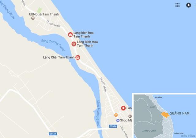 Làng bích họa Tam Thanh (TP Tam Kỳ), nơi nhiều căn nhà sẽ bị đập bỏ do xuống cấp. Ảnh: Thiên Sơn.