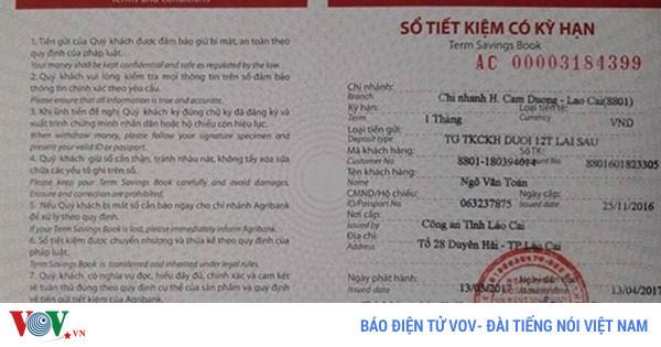 """Lào Cai: Hàng chục tỷ gửi tiết kiệm """"bốc hơi"""" chỉ còn 1 triệu đồng"""