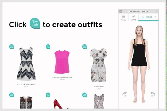 Thử quần áo online bằng người mẫu với số đo tương đương người mua.