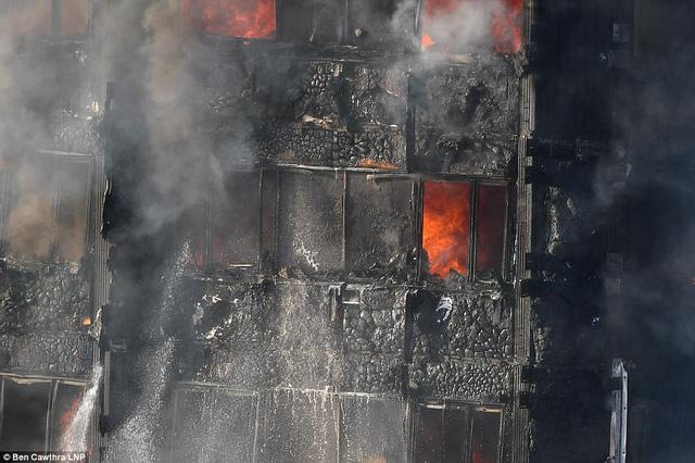 Hình ảnh người còn sống mắc kẹt bên trong tòa nhà 27 tầng bị lửa bao trùm, nhiều người được xác nhận đã chết - Ảnh 8.