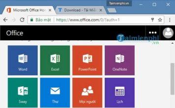 sử dụng office online